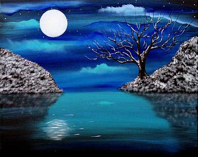 Painting - Midnight Reflection by Angie Phillips