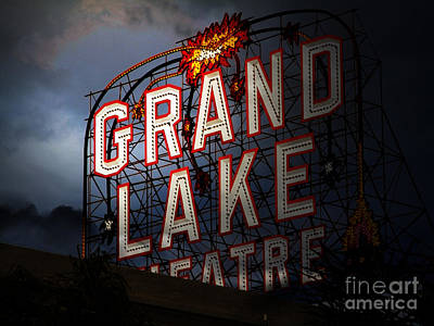 Photograph - Midnight Rising At The Old Grand Lake Theatre . Oakland California . 7d13498 by Wingsdomain Art and Photography