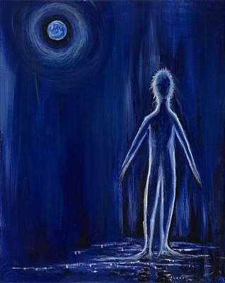 Painting - Midnight Stroll by David Junod
