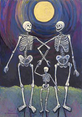 Midnight Stroll Art Print by Maureen Heidtmann