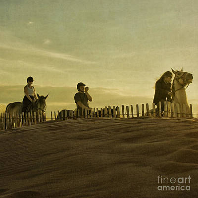 Midsummer Evening Horse Ride Art Print by Paul Grand