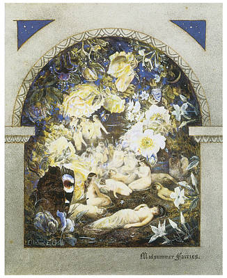 Midsummer Fairies Art Print
