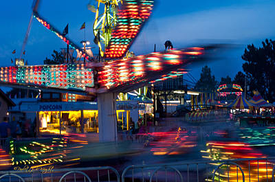 Photograph - Midway Blur by Paulette B Wright