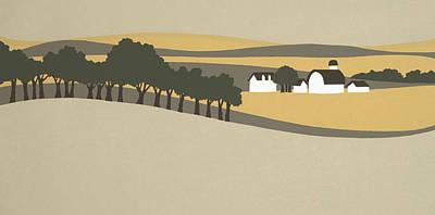 Midwest Landscape Art Print