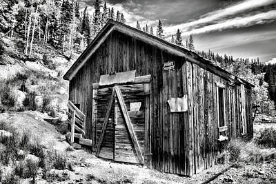 Photograph - Midwest Mine 1 Bw by Lana Trussell