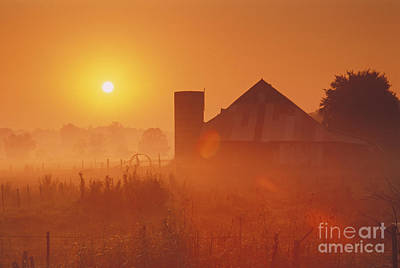 Southern Indiana Photograph - Midwestern Rural Sunrise - Fs000405 by Daniel Dempster