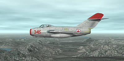 Digital Art - Mig-15 by Walter Colvin