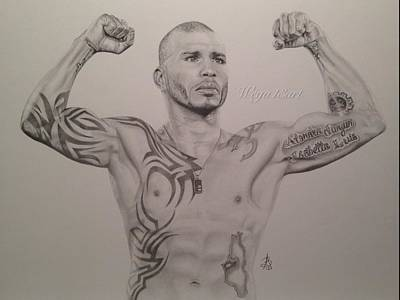 Miguel Drawings Drawing - Miguel Cotto by Angelee Borrero