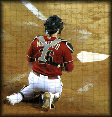 Homeplate Photograph - Miguel Montero by Diane Wood
