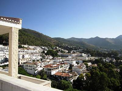 Photograph - Mijas Mountain White Archtectural View Spain by John Shiron
