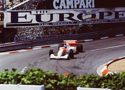 Pole Position Photograph - Mika Hakkinen At Loews Hairpin by John Bowers