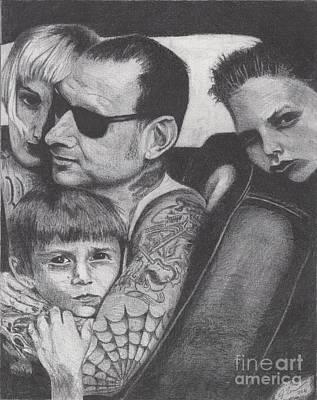 Mike Ness Art Print by Jeff Ridlen