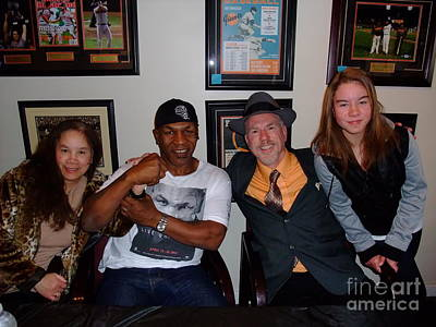 Photograph - Mike Tyson  Elvie  Vanessa And Myself At Mancave Memorabilia  by Jim Fitzpatrick