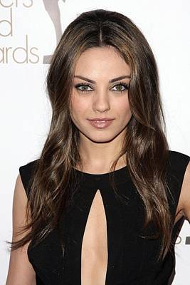 Mila Kunis At Arrivals For 2010 Writers Art Print by Everett