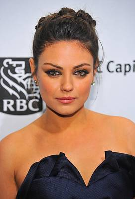 Hair Bun Photograph - Mila Kunis At Arrivals For Ifps 20th by Everett