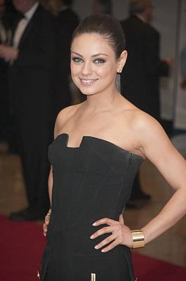 Cuff Bracelet Photograph - Mila Kunis In Attendance For 2011 White by Everett