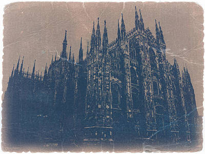 Goth Digital Art - Milan Cathedral by Naxart Studio