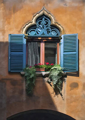 Digital Art - Milano Apartment Window by Sharon Foster