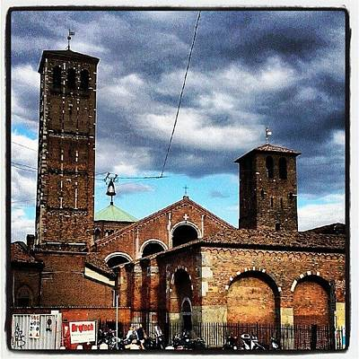 Icon Photograph - Milano, Sant'ambrogio #icons #storm by Tram Milano