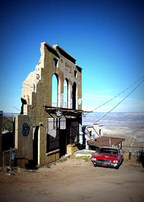 Print featuring the photograph Mile High Jerome Arizona by Cindy Wright