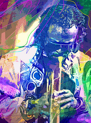 Painting - Miles Davis Painter Of Jazz by David Lloyd Glover