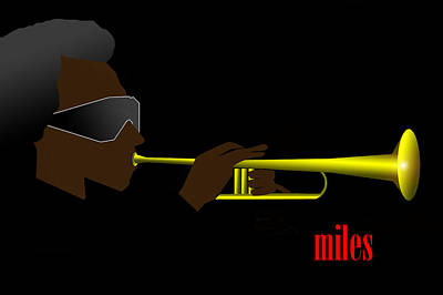 Mile Digital Art - Miles Davis by Victor Bailey