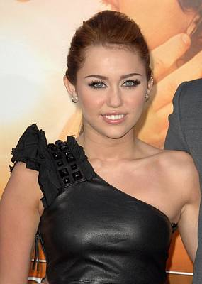 Arclight Hollywood Photograph - Miley Cyrus At Arrivals For The Last by Everett