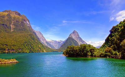 Photograph - Milford Sound From The Shore by Harry Strharsky