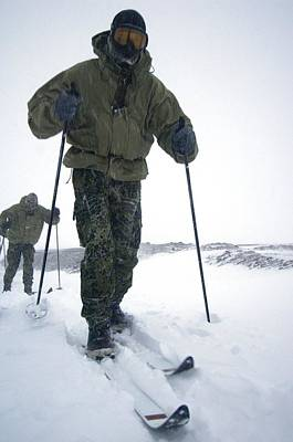 Human Survival Photograph - Military Arctic Survival Training by Louise Murray