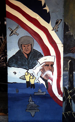 Photograph - Military Mural by Doug  Duffey