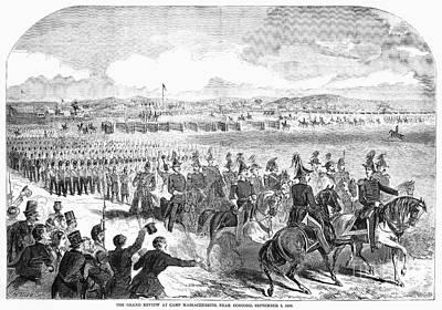 Militia Review, 1859 Art Print by Granger