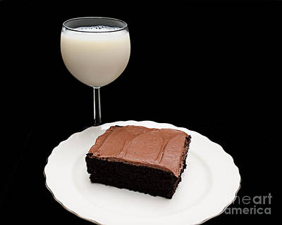 Cook Book Photograph - Milk And Chocolate Cake by Andee Design