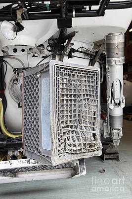 Milk Crate Melted By Submarine Jet Art Print by Ted Kinsman
