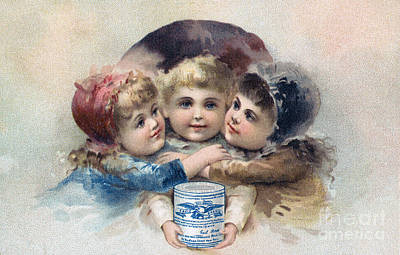 Milk Trade Card, C1880 Art Print