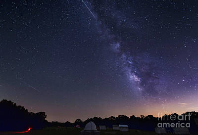 Milky Way And Perseid Meteor Shower Art Print by John Davis