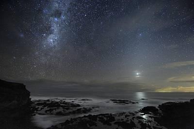Milky Way Over Cape Schanck, Australia Art Print by Alex Cherney, Terrastro.com