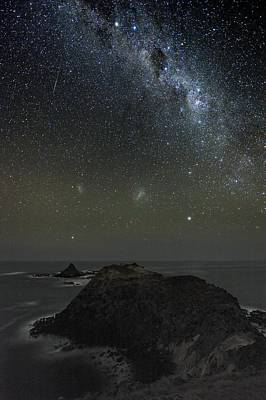 Milky Way Over Phillip Island, Australia Art Print by Alex Cherney, Terrastro.com