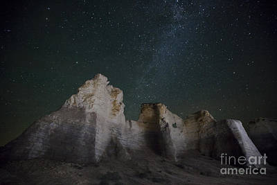 Milky Way Over The Chalk Pyramids Art Print by Keith Kapple