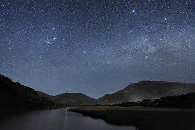 Moonlit Night Photograph - Milky Way Over Wilsons Promontory by Alex Cherney, Terrastro.com