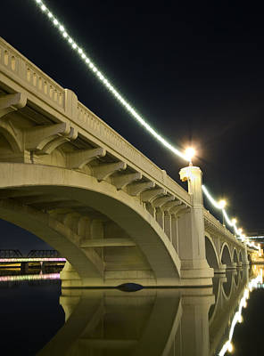 Photograph - Mill Avenue Bridge At Night by Michael Yeager