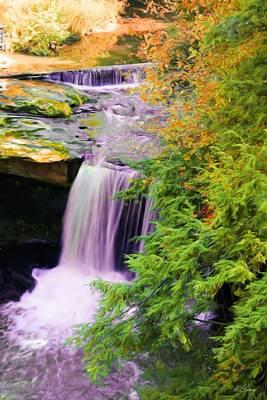 Painting - Mill Creek Waterfall by Michelle Joseph-Long