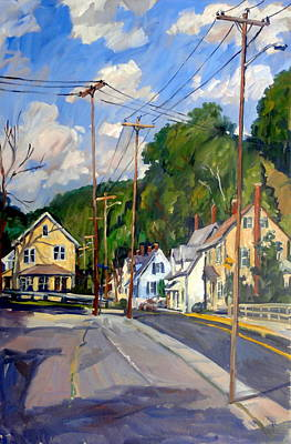 Mill Houses North Adams Art Print