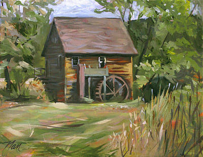 Painting - Mill In The Meadow by Nancy Griswold