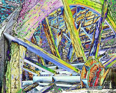 Mill Wheel - Foil Print by Jim Buda
