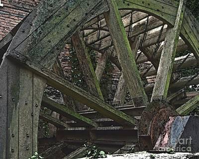 Mill Wheel Vi - Edges Print by Jim Buda
