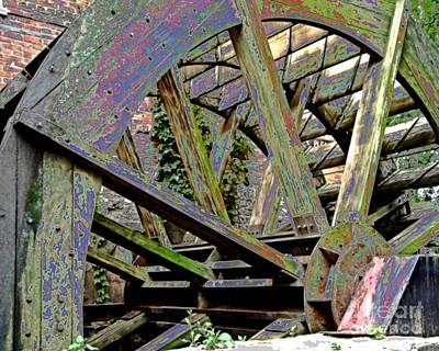 Mill Wheel Vi - Enamaled Print by Jim Buda