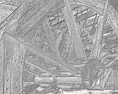 Mill Wheel Vi - Oil Print by Jim Buda
