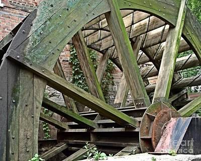 Mill Wheel Vi Print by Jim Buda