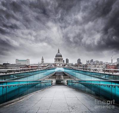 Millenium Bridge London Art Print by Martin Williams