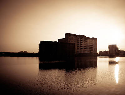 Print featuring the photograph Millenium Mills Warehouse by Lenny Carter